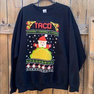 Ugly Christmas Xmas Sweatshirt 🌮 🥑